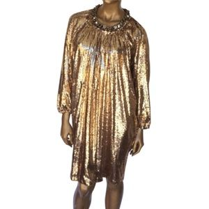 Lanvin Gold Sequin Dress